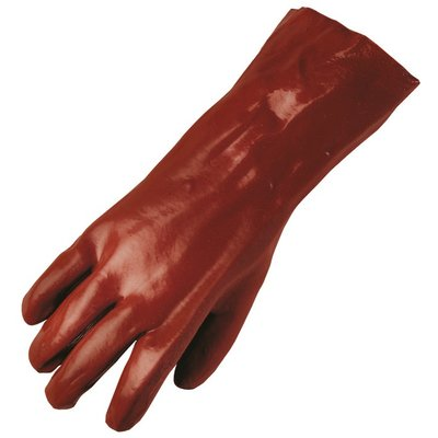 Gant de protection PVC rouge - 36 cm - La paire - Eurotechnique - 8