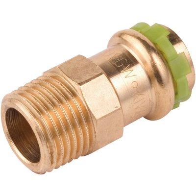 "Raccord laiton droit à sertir - M 1/2"" - Ø 12 mm - Aalberts Integrated Pipi"