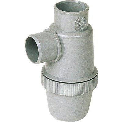 Siphon disconnecteur PVC gris vertical - Femelle - Ø 50 mm - Nicoll