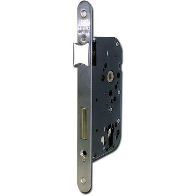 Serrure à larder Laitonnée réversible à fouillot - Clé I - Axe à 40 mm - Sé