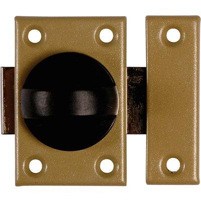 Verrou acier targette plate bronze - 45 mm - Vachette