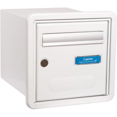 Boîte aux lettres blanche double face - Channel - Decayeux