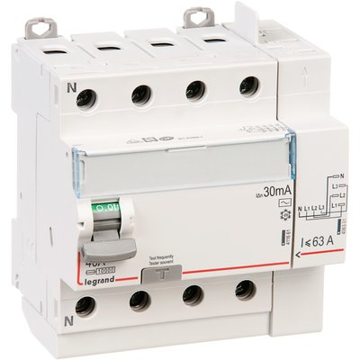 Interrupteur tétrapolaire DX³ ID - Type AC - 40 A - 5 modules - Connexio vi