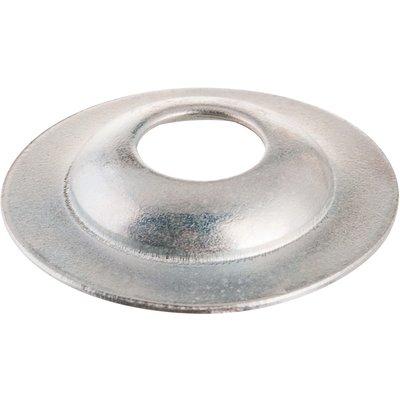 Rosace conique zinguée blanc - 14 mm - Vendu par 100 - Plombelec