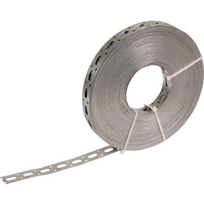 Bande perforée galvanisé - 17 mm - 25 m