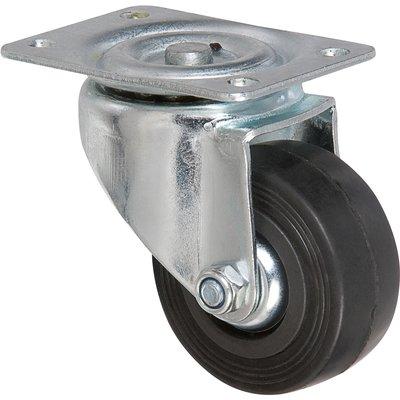 Roulette à platine pivotante - Ø 80 mm - Série S2C AF - Caujolle