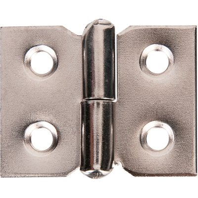 Paumelle de meuble à nœud roulé acier nickelé