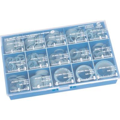 Assortiment de joints gaz bleu - Coffret de 470 pièces