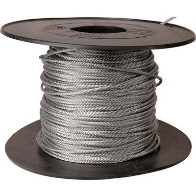 Câble acier galvanisé Levac - Ame métallique - Bobine de 100 m - Diamètre 5