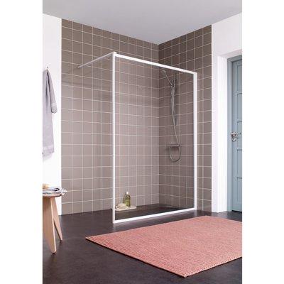 Paroi de douche fixe verre transparent - 100 cm - Atout 2 - Leda
