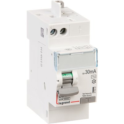 Interrupteur bipolaire DX³ ID - Type AC - 40 A - 2 modules - Connexio vis /
