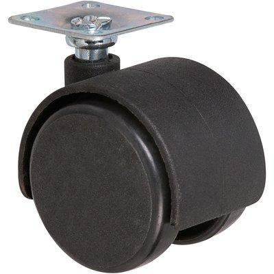 Roulette jumelée ameublement à platine pivotante série S49 P - Caujolle - D