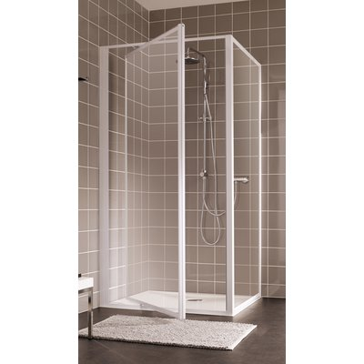 Porte de douche pivotante verre transparent - 1 ventail - 870 à 900 mm - At