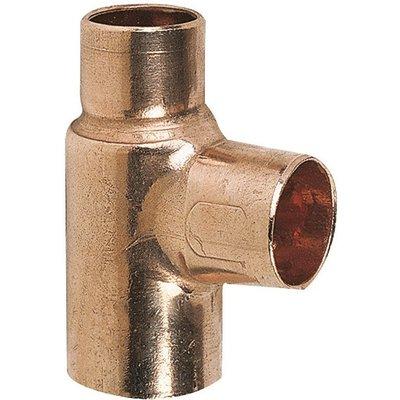 Raccord cuivre en T réduit à souder - Femelle - Ø 35 - 22 - 35 mm - Conex /