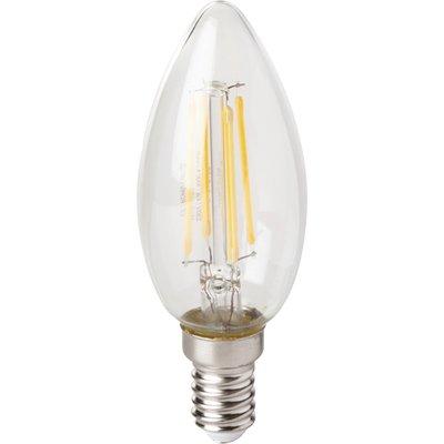Ampoule LED à filament Flamme - E14 - 4 W - 495 lm - 4000 K - Vision-EL