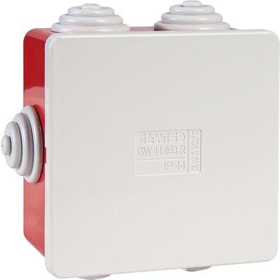 Boîte de dérivation carrée IP44 - Avec passe-fils - Couvercle bas à pressio