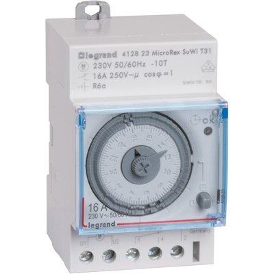 Interrupteur horaire programmable analogique automatique - Legrand