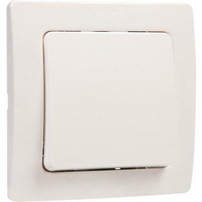 Interrupteur blanc simple va et vient complet - Liberty - Dhome