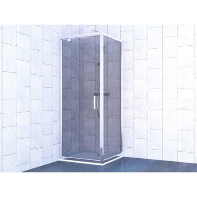 Porte de douche pivotante Nérina - Verre transparent