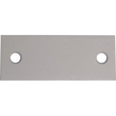 Contre plaque en tôle galvanisée 100x40 mm