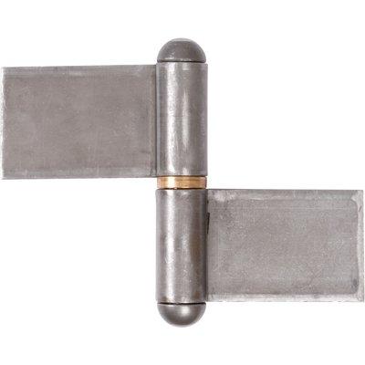 Paumelle de grille forte droite - 83,5 x 140 mm - Lames renvoyée - Monin