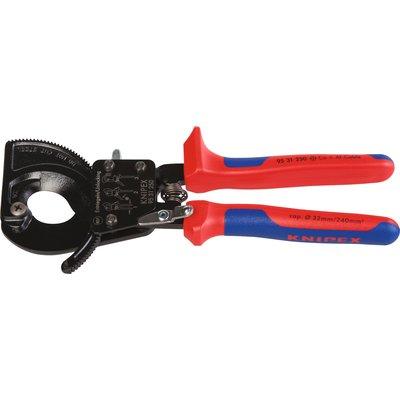 Coupe câble à cliquet Knipex - Capacité 32 mm