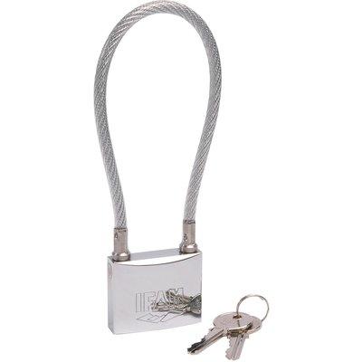 Cadenas à clé - Série MAR - À câble inox - Varié - Avec 2 clés