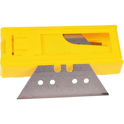 Lame de couteau réversible - Petit trapèze - Étui plastique 10 pièces - Sta