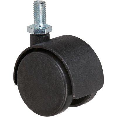 Roulette jumelée ameublement à tige filetée série S49 TF - Caujolle - D40