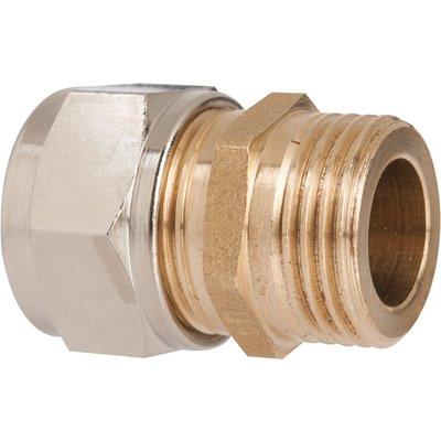 "Raccord laiton droit à serrage - M 1/2"" - Ø 12 mm - Rapido"