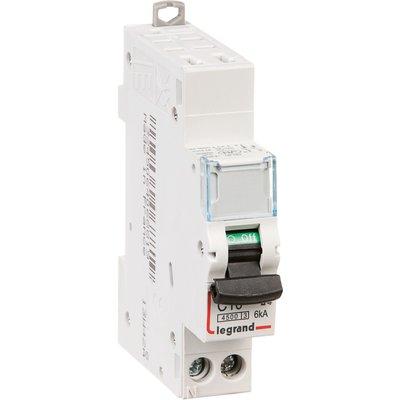 Disjoncteur DX³ 4500- 6 kA courbe C - 16 A - 1 module - Connexion auto / vi