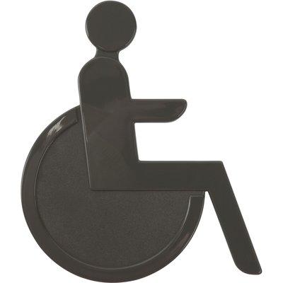 Idéogramme signalétique adhésif pour porte - Nylon - Hauteur 13 cm