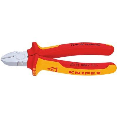 Pince coupante de côté Knipex - Isolé 1000 V - Longueur 160 mm