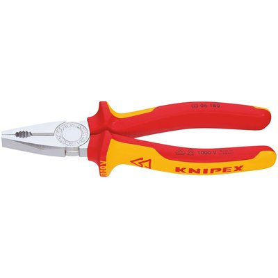 Pince universelle Knipex - Isolé 1000 V - Longueur 180 mm