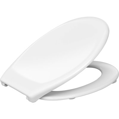 Abattant WC blanc double - PMR - Siamp