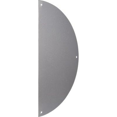 Plaque de propreté 1/2 lune aluminium argent