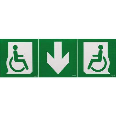 Etiquettes de signalisation universelle d'évacuation pour personnes à mobil