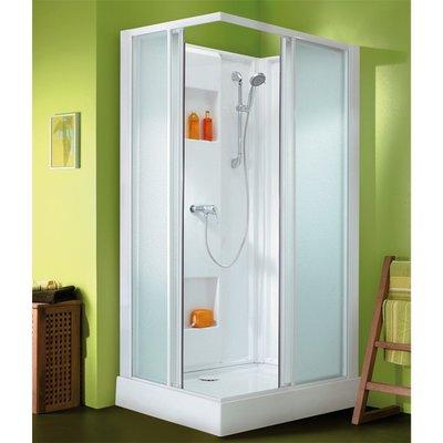 Cabine de douche rectangulaire portes coulissantes transparentes - 100 x 80