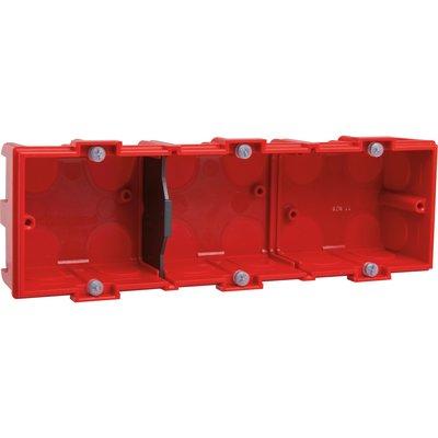 Boîte d'encastrement Batibox - Maçonnerie - 3 postes - Profondeur 40 mm