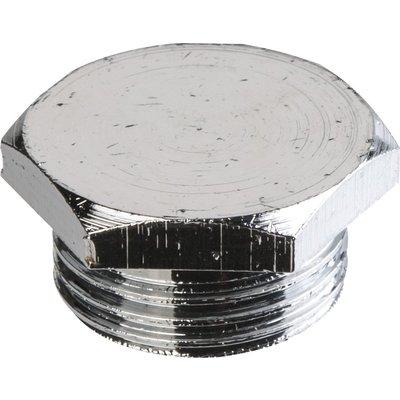 """Bouchon laiton chromé à visser - M 1/2"""" - Sobime"""