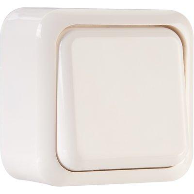Interrupteur blanc simple va et vient - Sally - Dhome