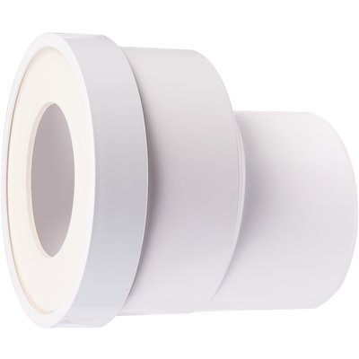 Pipe WC à sortie droite excentrée - Diamètre sortie 93 mm
