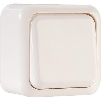 Bouton poussoir blanc - Sally - Dhome