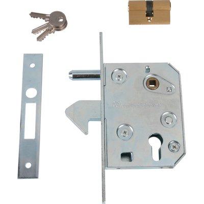 Serrure à larder acier à crochet - Clé I - Axe à 64 mm - Série 445 - Guitel