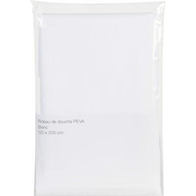 Rideau PVC blanc - sans anneaux - 120 x 200 cm
