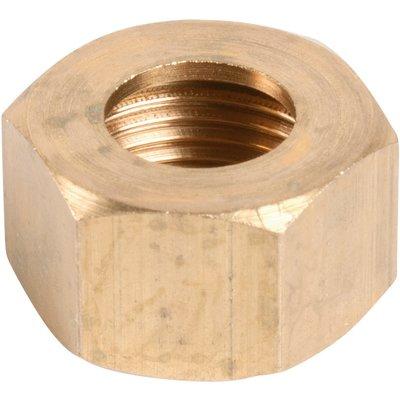"""Écrou laiton hexagonal à visser - F 3/8"""" - Ø 12 mm - Série forte"""