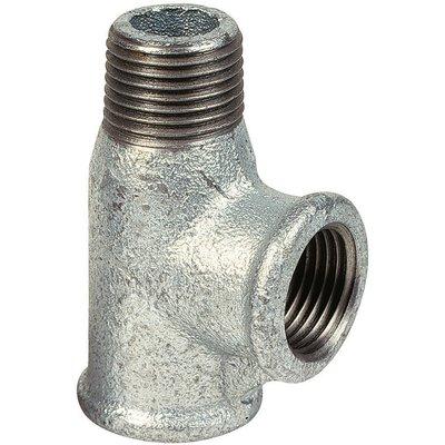 Raccord té - Fonte galvanisée - Mâle / Femelle - 134