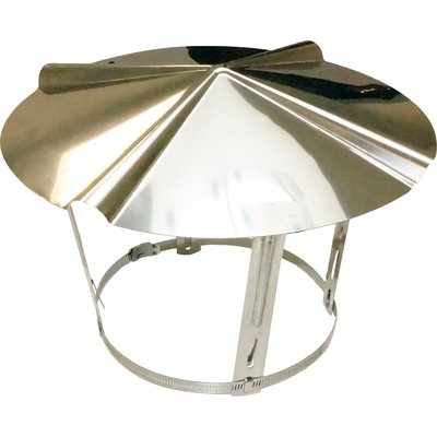 Chapeau chinois inox - Ø 120 / 140 mm - Tolerie Emaillerie Nantaise