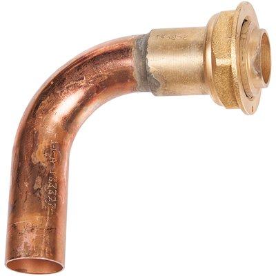 Piquage coudé à 90° - Spécial gaz naturel - À souder sur cuivre