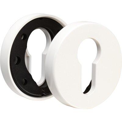 Rosace ronde blanche - Clé L - NY92F et NY94F - La paire Normbau